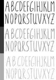 Шрифт акварели рукописный Стоковая Фотография