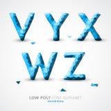 Шрифт алфавита вектора низкий поли Стоковая Фотография RF