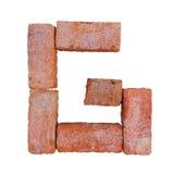 Шрифт алфавита красного кирпича на белой предпосылке изолированной с путем клиппирования Стоковые Фотографии RF
