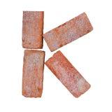 Шрифт алфавита красного кирпича на белой предпосылке изолированной с путем клиппирования Стоковые Изображения RF