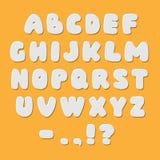 Шрифт алфавита стиля белой бумаги Стоковое фото RF