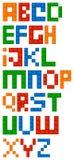 Шрифт алфавита строительных блоков Стоковое Изображение