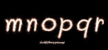 шрифт бенгальского огня Стоковое Фото
