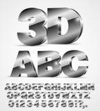 Шрифт вектора алфавита Стоковое Изображение RF
