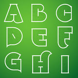 Шрифт вектора алфавита соединений установил 1 a к I Стоковые Фото