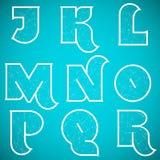Шрифт вектора алфавита соединений установил 2 j к r Стоковое Изображение