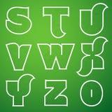 Шрифт вектора алфавита соединений установил 3 s к z Стоковое Фото