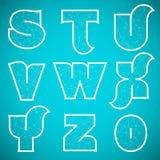 Шрифт вектора алфавита соединений установил 3 s до 0 Стоковое фото RF