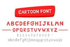 Шрифт вектора для шаржа Бесплатная Иллюстрация
