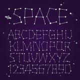 Шрифт вектора космоса Стоковые Изображения RF