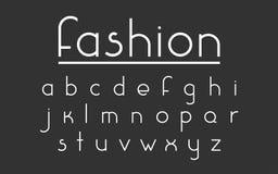 Шрифт вектора моды Стоковая Фотография RF