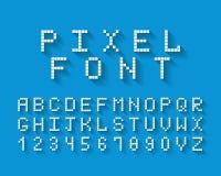 Шрифт вектора пиксела Стоковая Фотография RF