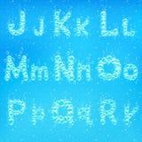 Шрифт вектора пузырей мыла Стоковые Изображения RF