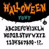 Шрифт вектора хеллоуина Стоковые Изображения RF