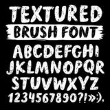 Шрифт вектора щетки нарисованный рукой текстурированный Стоковое Изображение