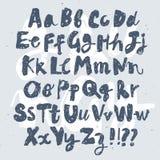Шрифт вектора щетки нарисованный рукой текстурированный Стоковое фото RF