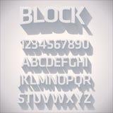 Шрифт вектора 3D с тенью Стоковые Фото