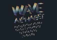 Шрифт волны иллюстрация вектора
