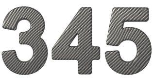 Шрифт 3 волокна углерода 4 5 цифра Стоковые Фотографии RF