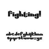 Шрифт восковки стиля игры Стоковые Фотографии RF