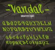 Шрифт граффити вандала иллюстрация вектора