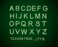 Шрифт денег Письмо от доллара Алфавит денег иллюстрация вектора