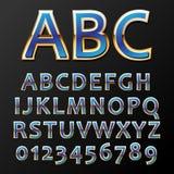 Шрифт золота вектора Стоковое Изображение RF