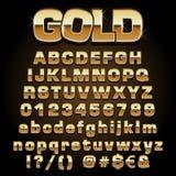 Шрифт золота вектора Стоковые Изображения