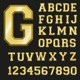 Шрифт золота Стоковые Фотографии RF