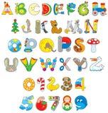 Шрифт игрушки иллюстрация вектора