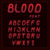 Шрифт крови ОТ НАЧАЛА ДО КОНЦА вектора писем красный бесплатная иллюстрация