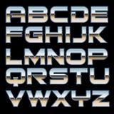 Шрифт металла вектора Стоковая Фотография RF
