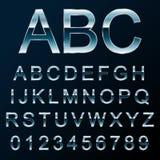 Шрифт металла вектора Стоковые Изображения