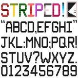 Шрифт нашивки Стоковая Фотография