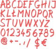 Шрифт отметки Стоковая Фотография