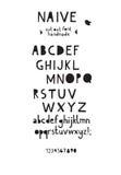 Шрифт отрезанный бумагой вне Стоковое Изображение RF