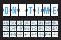 Шрифт панели доски сальто авиапорта механически Стоковая Фотография RF