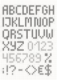 Шрифт перекрестным стежком английский с номерами и символами Верхний - случай l Стоковые Изображения RF