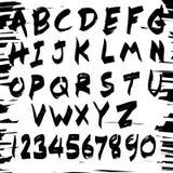 Шрифт почерка отметки Стоковые Фото