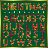 Шрифт рождества Стоковое Изображение