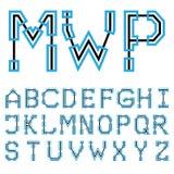 Шрифт 02 светокопии архитектурноакустический Вектор EPS8 стоковое изображение
