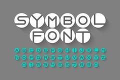 Шрифт символа Стоковое Изображение RF