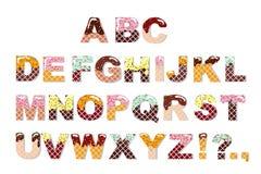 Шрифт сладостного шоколада конфеты Алфавит мороженого Письма вафли вектор бесплатная иллюстрация