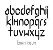 Шрифт современного вектора каллиграфический Стоковое Изображение
