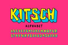 Шрифт стиля Kitch иллюстрация штока