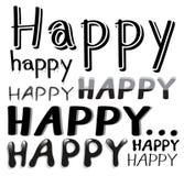Шрифт счастливый Стоковое Изображение RF