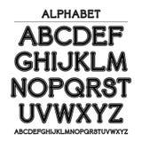 Шрифт с округленными углами и контуром Стоковые Изображения