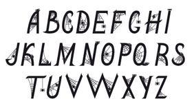 Шрифт с пауками в сети Стоковое Изображение RF