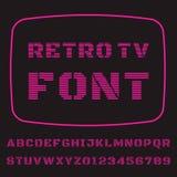 Шрифт ТВ Стоковая Фотография RF