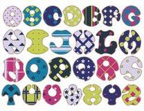 Шрифт ткани красочный handmade Стоковое Фото